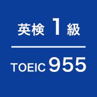 英検 1級 TOEIC955