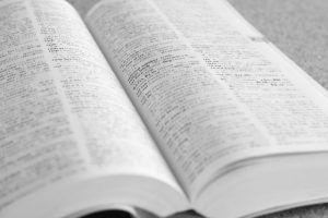 辞書で単語の意味を調べ英会話力向上