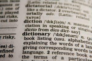 英会話の上達の為に辞書を