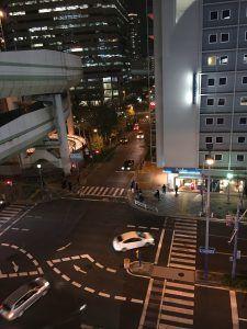 大阪西梅田のKEC外語学院、教室からの風景1