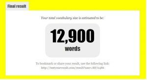 Vocabulary Test Result 01