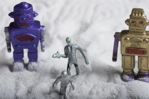 ロボット作製を通して英会話習得