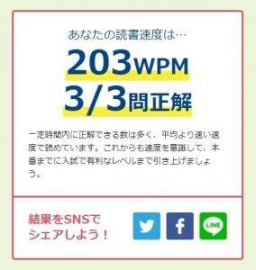 WPM読書結果